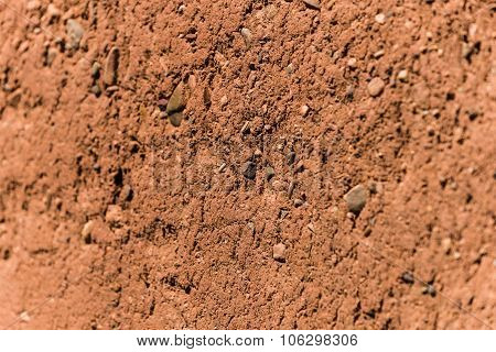 Wall Of Earth In Ait Ben Haddou In Morocco - Famous Filmset For