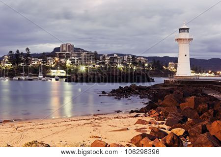 Historic Lighthouse In Wollongong