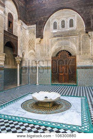 Al Attarine Madrasa In Fez, Morocco