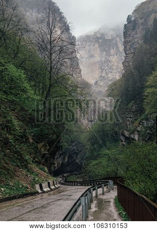 Chegem Canyon Road.