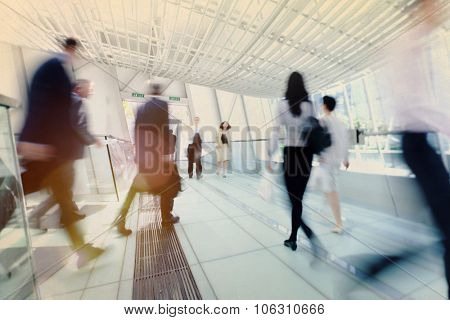 Hong Kong Business People Commuting Concept poster