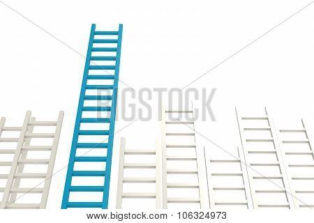 Blue Ladder Among White