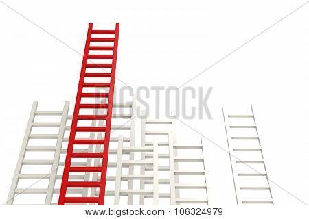Red Ladder Among White