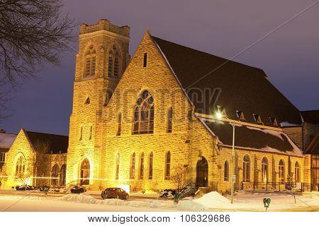 First Presbyterian Church In Topeka At Sunrise