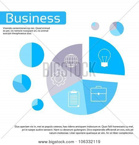 Finance Pie Diagram Circle Infographic with Financial Business Graph Chart