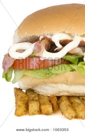 Blt & Fries Close Up,
