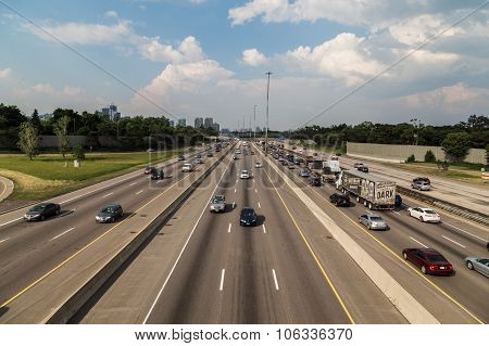 Toronto 401 Highway And Traffic