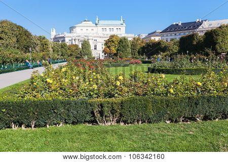 Volksgarten Park And Burgtheater Building, Vienna