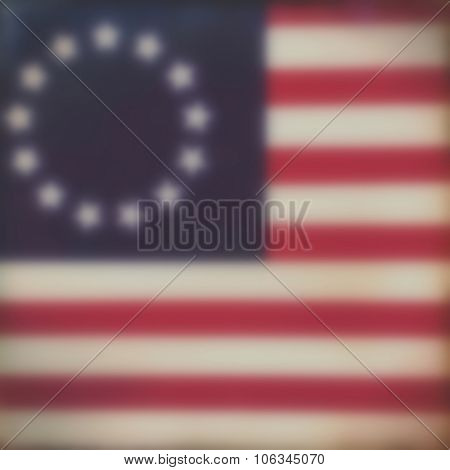 Blurred flag background - America - Revolutionary War - 4th July Independance Day