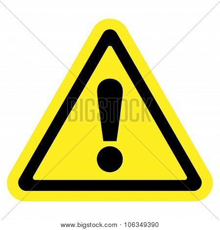attention sign on white background