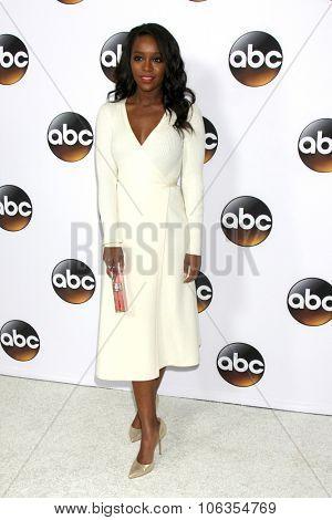 LOS ANGELES - JAN 14:  Aja Naomi King at the ABC TCA Winter 2015 at a The Langham Huntington Hotel on January 14, 2015 in Pasadena, CA