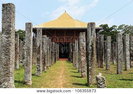 Anuradhapura, Gardens Arround Dagoba, Sri Lanka