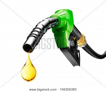 Oil Dripping From A Gasoline Pump
