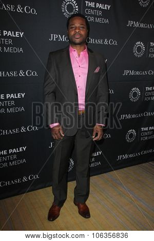 LOS ANGELES - OCT 26:  Malcolm-Jamal Warner at the Paley Center's Hollywood Tribute to African-Americans in TV at the Beverly Wilshire Hotel on October 26, 2015 in Beverly Hills, CA