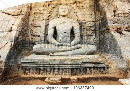 Gal Viharaya Buddha Statues In Polonnaruwa, Sri Lanka