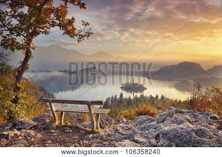 Autumn Lake Bled.