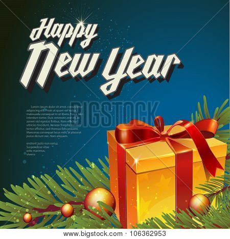 Vector illustration  with new year lettering.