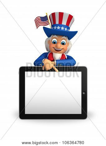 Uncle Sam With Tab