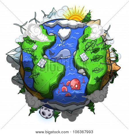 Environmentally friendly  planet