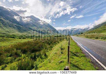 Scottish Mountain Highlands Landscape