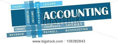 Accounting Blue Stripes Keywords