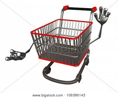 The Trolly Charecter With Presenting Pose