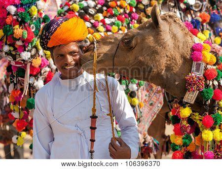 Traditional Camel Decoration Competition At Camel Mela In Pushkar