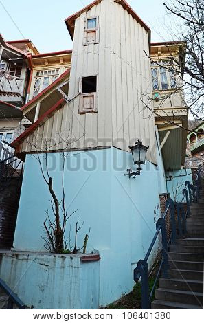 Unusual Small Tightly Dwelling In The Old Town In Tbilisi