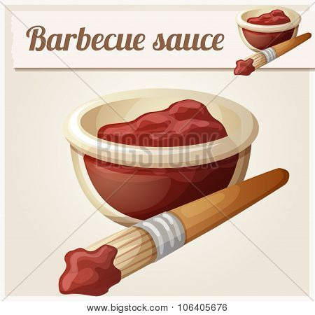 Barbecue sauce. Detailed Vector Icon
