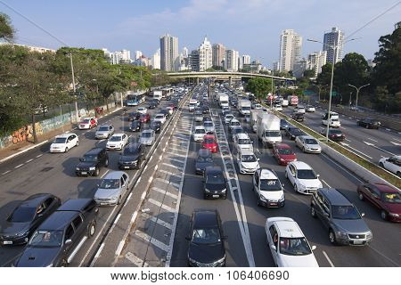 Sao Paulo Afternoon Rush Hour Commute