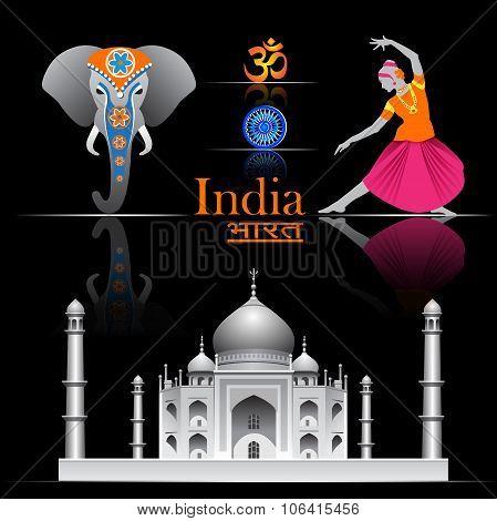 India vector set