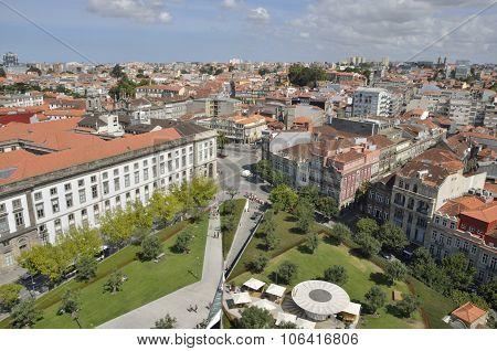 Porto Cityscape From Clerigos Tower