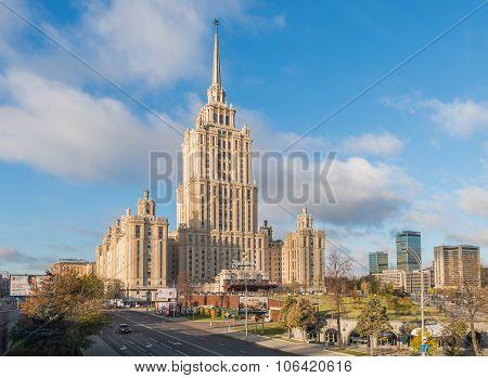 The Radisson Royal Hotel Moscow.
