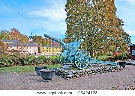 Porvoo. Finland. The Gun - memorial