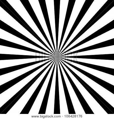 Starburst, Sunburst Background. Radiating, Converging Lines Vector.