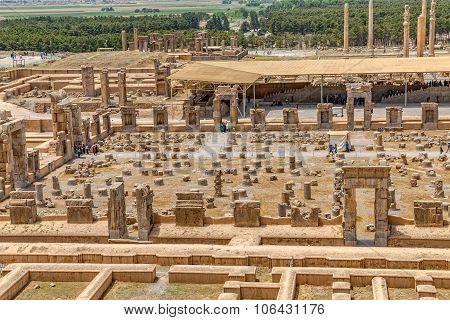 Persepolis restoration site