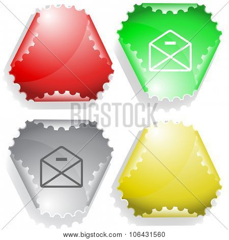mail minus. Raster sticker.