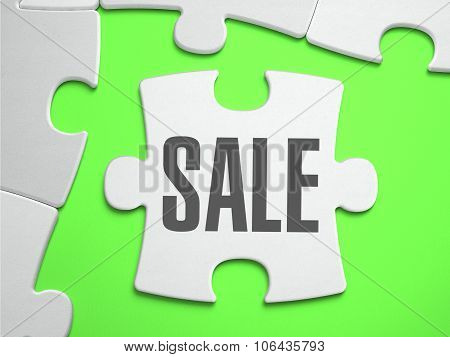 Sale - Jigsaw Puzzle with Missing Pieces.