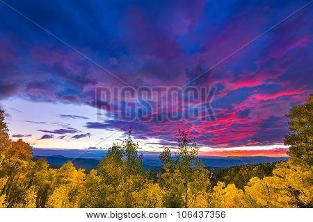 Sunset At The Santa Fe Ski Basin