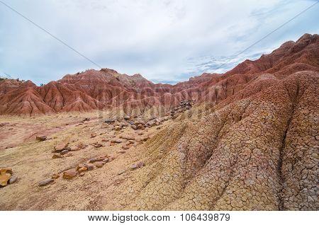 Another Planet Like Terrain Of Tatacoa Desert