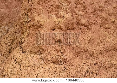 Closeup Of Bright Orange Sand Formation Of Tatacoa Desert - Natural Background