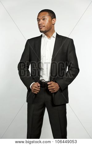 Hip and Trendy Formal Black Male