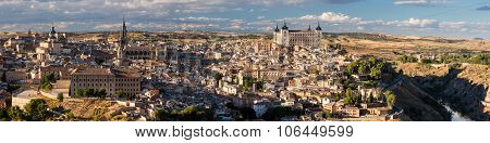 Panoramic View Of Toledo City In Spain