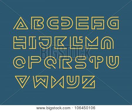 Stripe Font Set. Regular