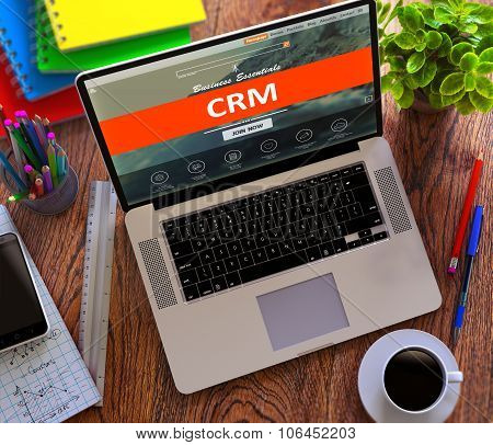CRM. Office Working Concept.