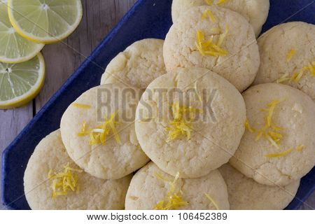 Lemon Cookies on a Platter