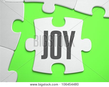 Joy - Jigsaw Puzzle with Missing Pieces.