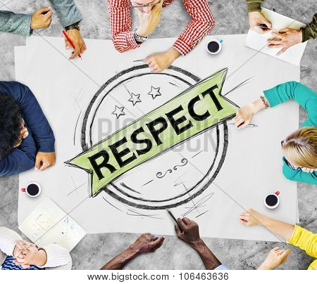 Respect Honesty Honorable Regard Integrity Concept poster