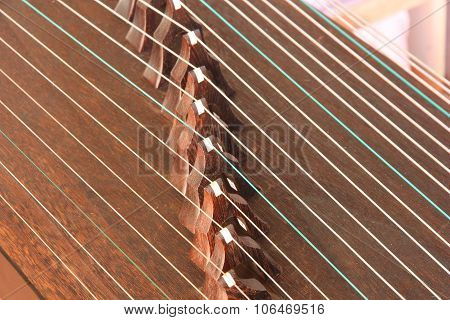 Strings And Bridges Of Chinese Ancient Instrument Gu Zheng