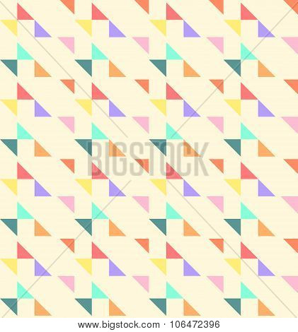 Geometric Seamless Pattern Background With Triangle And Trapezoid.